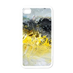 Bright Yellow Abstract Apple Iphone 4 Case (white) by timelessartoncanvas