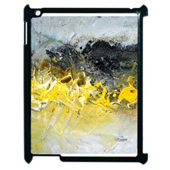 Bright Yellow Abstract Apple Ipad 2 Case (black) by timelessartoncanvas