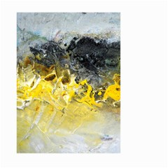 Bright Yellow Abstract Large Garden Flag (two Sides) by timelessartoncanvas