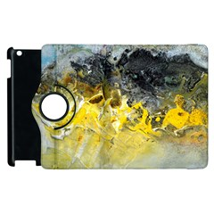 Bright Yellow Abstract Apple Ipad 2 Flip 360 Case by timelessartoncanvas
