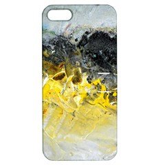 Bright Yellow Abstract Apple Iphone 5 Hardshell Case With Stand by timelessartoncanvas