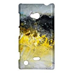 Bright Yellow Abstract Nokia Lumia 720 by timelessartoncanvas