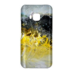 Bright Yellow Abstract HTC One M9 Hardshell Case by timelessartoncanvas