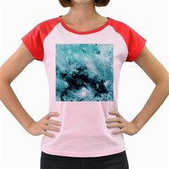 Turquoise Abstract Women s Cap Sleeve T Shirt