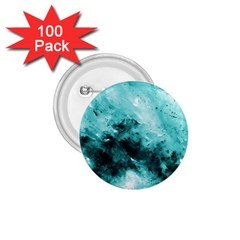 Turquoise Abstract 1 75  Buttons (100 Pack)  by timelessartoncanvas
