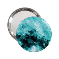 Turquoise Abstract 2.25  Handbag Mirrors by timelessartoncanvas