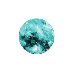 Turquoise Abstract Golf Ball Marker by timelessartoncanvas