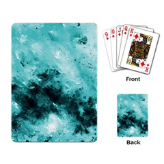 Turquoise Abstract Playing Card by timelessartoncanvas