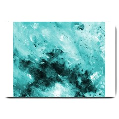 Turquoise Abstract Large Doormat  by timelessartoncanvas