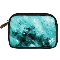 Turquoise Abstract Digital Camera Cases by timelessartoncanvas