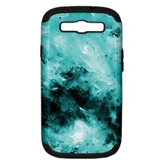 Turquoise Abstract Samsung Galaxy S Iii Hardshell Case (pc+silicone) by timelessartoncanvas