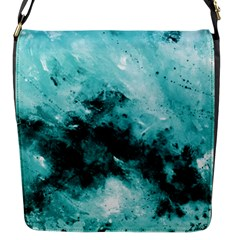 Turquoise Abstract Flap Messenger Bag (s) by timelessartoncanvas