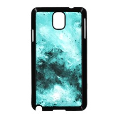 Turquoise Abstract Samsung Galaxy Note 3 Neo Hardshell Case (black) by timelessartoncanvas