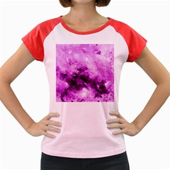 Bright Pink Abstract Women s Cap Sleeve T Shirt by timelessartoncanvas