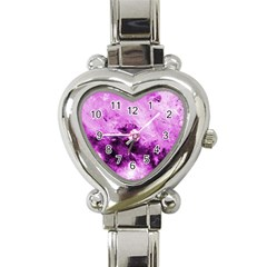 Bright Pink Abstract Heart Italian Charm Watch by timelessartoncanvas
