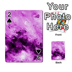 Bright Pink Abstract Playing Cards 54 Designs