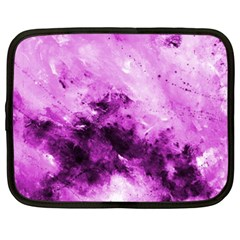 Bright Pink Abstract Netbook Case (xxl)  by timelessartoncanvas