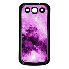 Bright Pink Abstract Samsung Galaxy S3 Back Case (black) by timelessartoncanvas