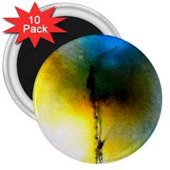 Watercolor Abstract 3  Magnets (10 Pack)  by timelessartoncanvas