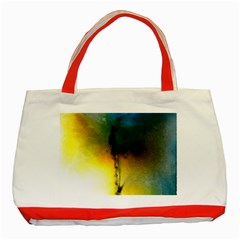 Watercolor Abstract Classic Tote Bag (red)  by timelessartoncanvas