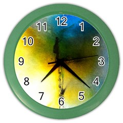Watercolor Abstract Color Wall Clocks by timelessartoncanvas