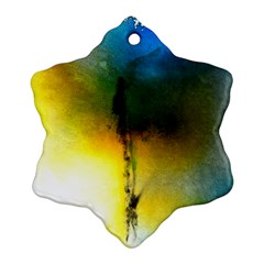 Watercolor Abstract Ornament (Snowflake)