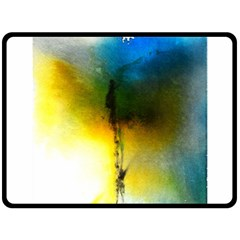 Watercolor Abstract Double Sided Fleece Blanket (large)  by timelessartoncanvas