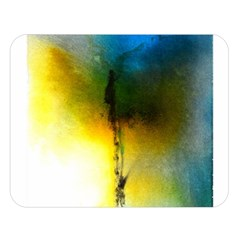 Watercolor Abstract Double Sided Flano Blanket (large)