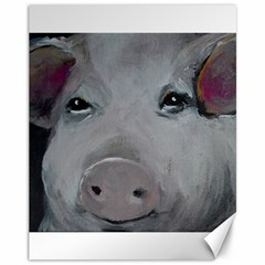 Piggy No. 1 Canvas 11  x 14   by timelessartoncanvas