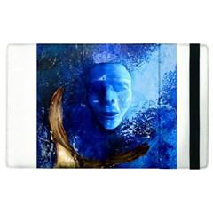Blue Mask Apple Ipad 3/4 Flip Case by timelessartoncanvas