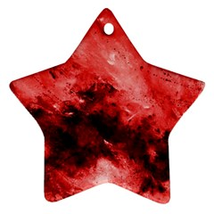 Red Abstract Star Ornament (two Sides)  by timelessartoncanvas
