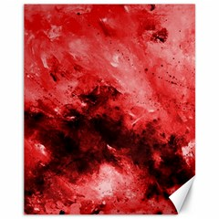 Red Abstract Canvas 11  X 14   by timelessartoncanvas
