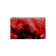 Red Abstract Cosmetic Bag (small)  by timelessartoncanvas
