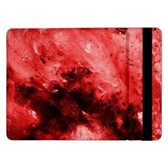 Red Abstract Samsung Galaxy Tab Pro 12 2  Flip Case by timelessartoncanvas