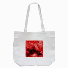 Red Abstract Tote Bag (white)  by timelessartoncanvas