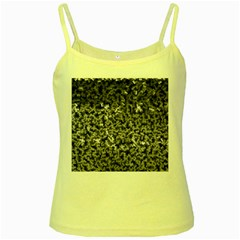 Gray Cubes Yellow Spaghetti Tanks by timelessartoncanvas