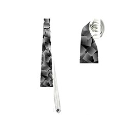 Gray Cubes Neckties (two Side)  by timelessartoncanvas