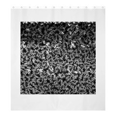 Gray Cubes Shower Curtain 66  X 72  (large)  by timelessartoncanvas