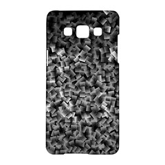Gray Cubes Samsung Galaxy A5 Hardshell Case  by timelessartoncanvas