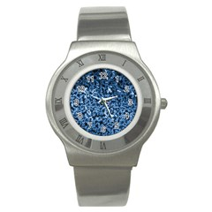 Blue Cubes Stainless Steel Watches by timelessartoncanvas