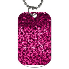 Pink Cubes Dog Tag (two Sides) by timelessartoncanvas
