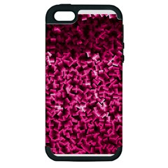 Pink Cubes Apple Iphone 5 Hardshell Case (pc+silicone) by timelessartoncanvas