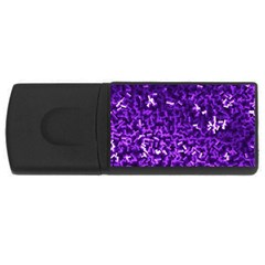 Purple Cubes Usb Flash Drive Rectangular (4 Gb)  by timelessartoncanvas