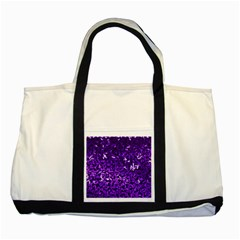 Purple Cubes Two Tone Tote Bag