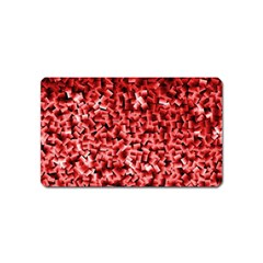 Red Cubes Magnet (name Card)