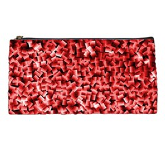 Red Cubes Pencil Cases by timelessartoncanvas