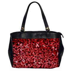 Red Cubes Office Handbags by timelessartoncanvas