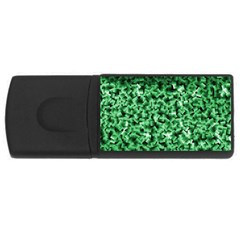 Green Cubes Usb Flash Drive Rectangular (4 Gb)  by timelessartoncanvas