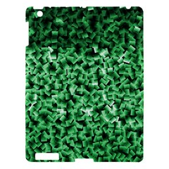 Green Cubes Apple Ipad 3/4 Hardshell Case by timelessartoncanvas