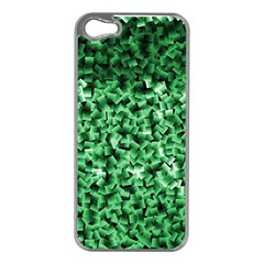 Green Cubes Apple Iphone 5 Case (silver) by timelessartoncanvas